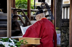 祝詞奏上 the recitation of a norito(Shinto prayer)